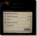 Blackberry Curve 9320  - Mobile Hotspot