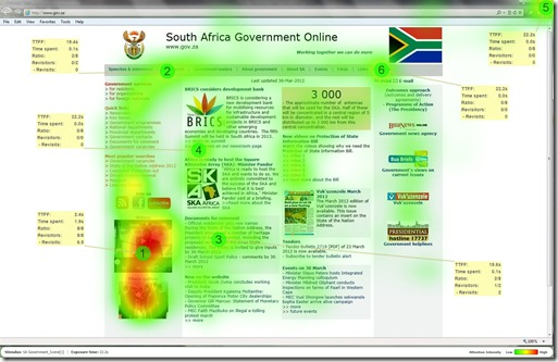 Eye Tracking - SA Government - Heatmap