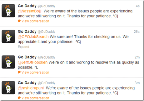 GoDaddy is down