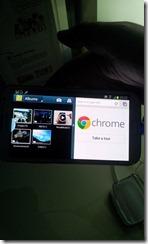 Galaxy Note II - split screen in landscape mode