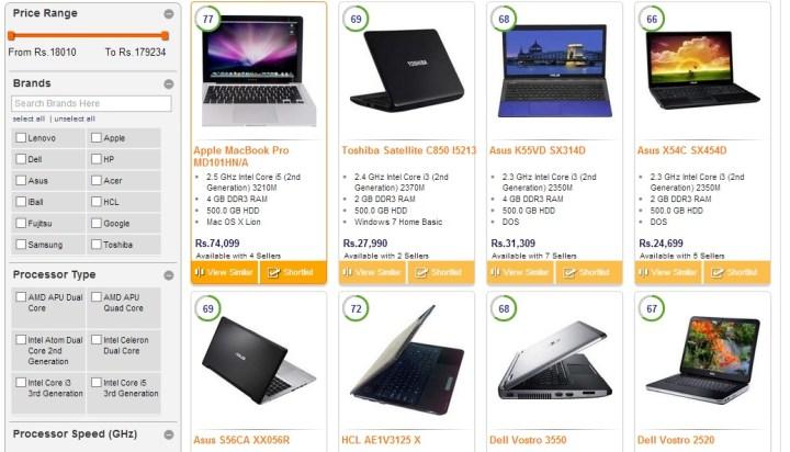 FindYogi Laptops