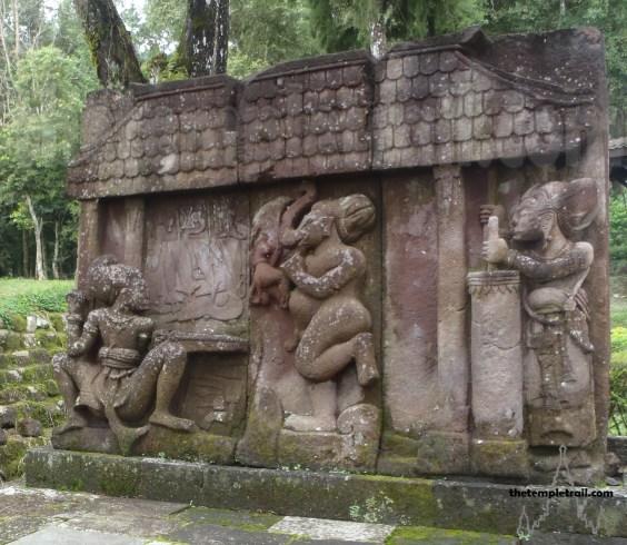 Candi Sukuh Ganesh Forge Scene