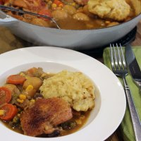 A Good Old-fashioned Chicken Casserole with Dumplings