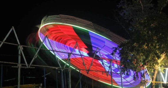 light trails at carnival
