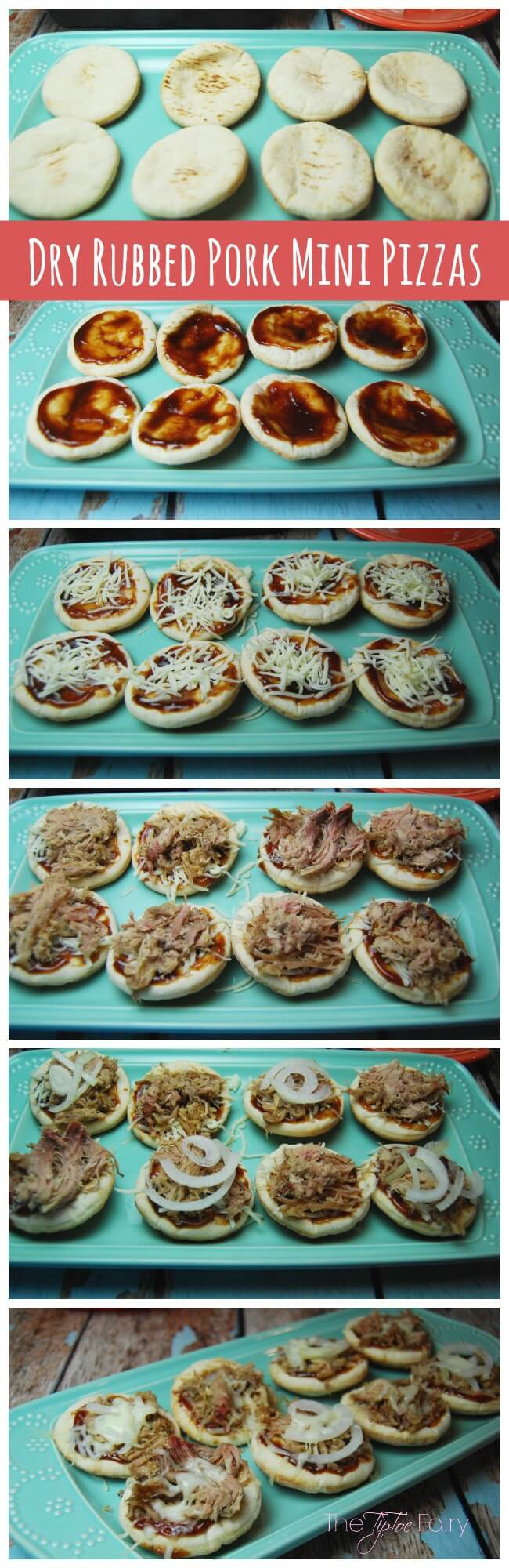 Super quick and easy meal with Smoked Pork BBQ Mini Pizzas | The TipToe Fairy #SmokehouseBBQ #bbq #pizza #barbecuepizza