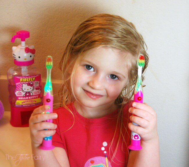 Get Your Kids Brushing with Firefly - Is brushing a hassle with your kids? Then, try Firefly interactive light up toothbrushes! | The TipToe Fairy #BrushBattle