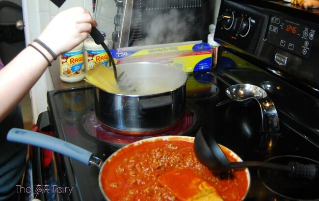 Easy Baked Spaghetti Casserole - my absolute favorite comfort food dish!   The TipToe Fairy
