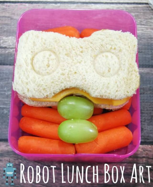 Robot Lunch Box Art - make a Robot Sandwich for your kids! #ad | The TipToe Fairy