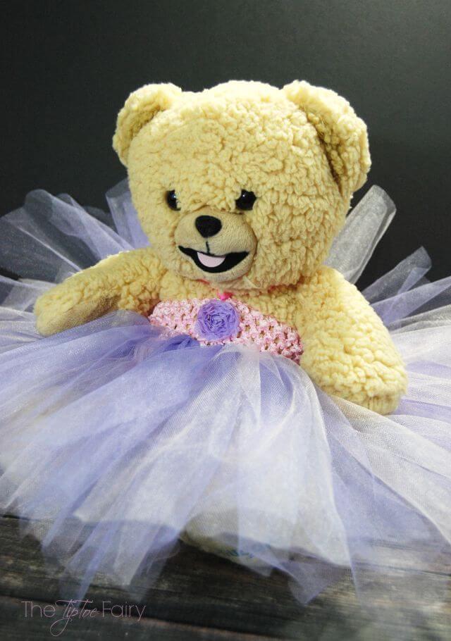 DIY Snuggle Bear Teddy Bear Princess Dress #ad #ShareABear | The TipToe Fairy