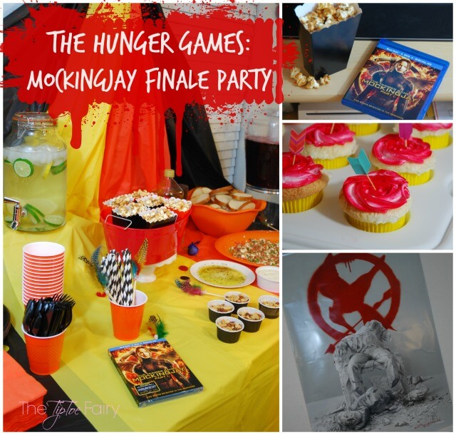 Host a party for The Hunger Games: Mockingjay Part 2 with lots of themed food from Prim's feta dip to Nightlock Tarts! #IC AD #MockingjayFinale   The TipToe Fairy