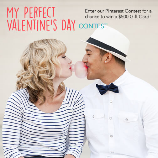 Pinterest #Contest for your Perfect Valentine's Day! Chance to #win $500 gc!! #AD #Valentines