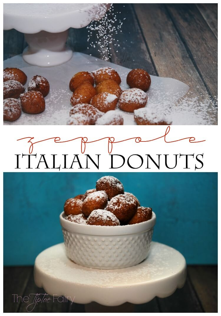 Zeppole Italian Donuts - so easy! Come see the rest of the Italian Feast! #food #yum #dessert