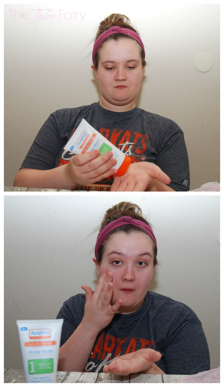DIY Super Quick No Sew Headband & My Teen's Easy @AcneFree Routine #AD #AcneFree123