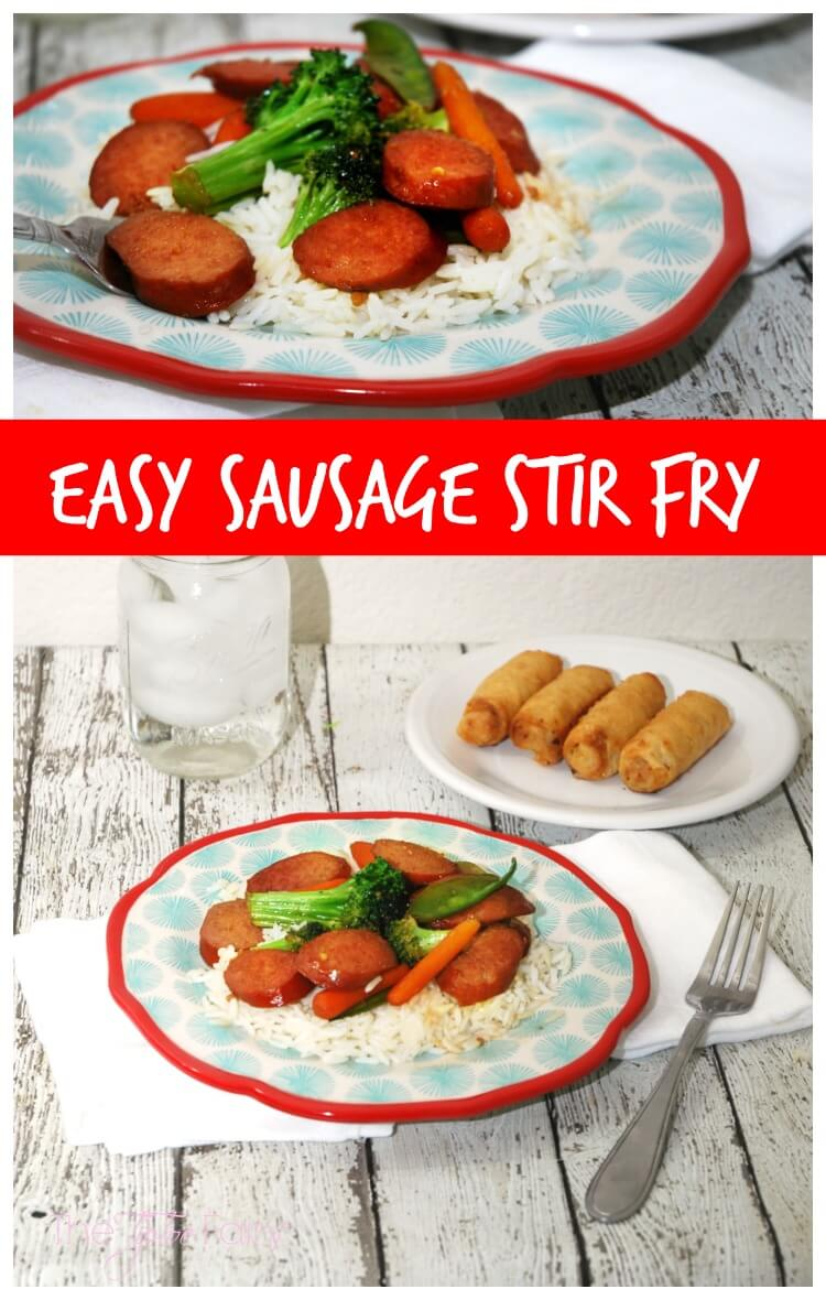 Easy Sausage Stir Fry with Hillshire Farm®! #AD #CreateYouDeliciousSkillet #food