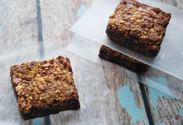 Doctor up those #brownies - Double Chocolate Toffee Brownies #food #foodie
