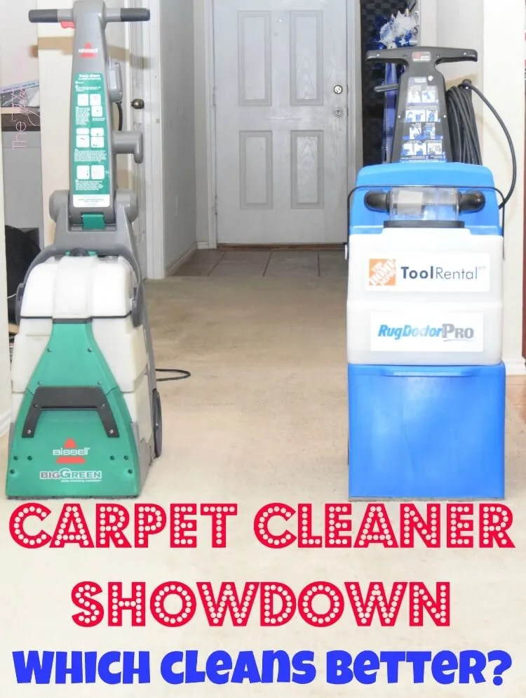 Come see who won the Carpet Cleaner Showdown! Who do you think won? #AD #bissellclean