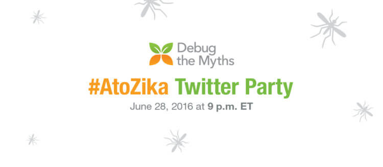 Twitter Party! Learn from #AtoZika about mosquito protection! @DebugtheMythsb #AD