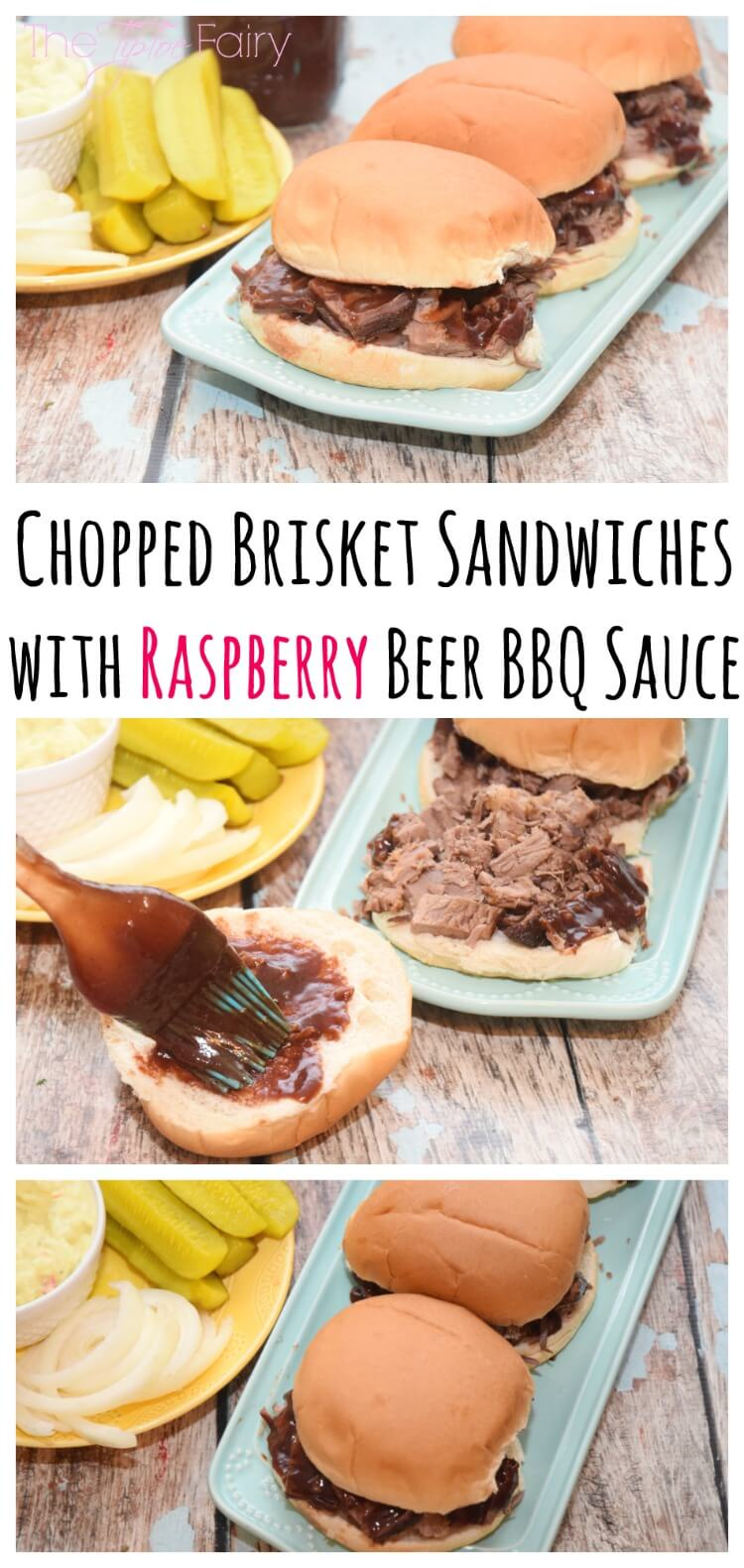 Easy Chopped Brisket Sandwiches w/Raspberry Beer BBQ Sauce! #ad #MyKCMasterpiece