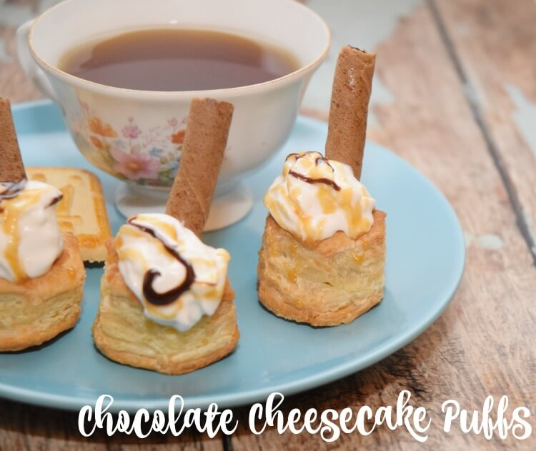 Make these easy peasy Chocolate Cheesecake Puffs #ad #WipsterpieceSweepstakes #food #yum