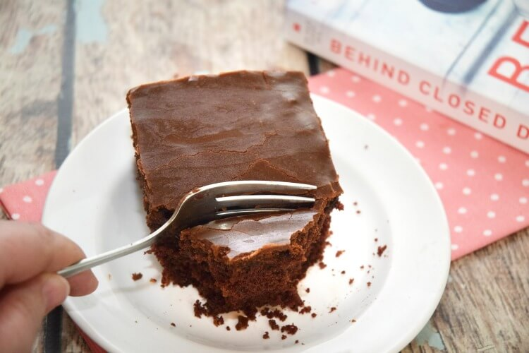 What did I think of new book #BehindClosedDoors? Plus, recipe for Old Fashioned Fudge Cake! #ad
