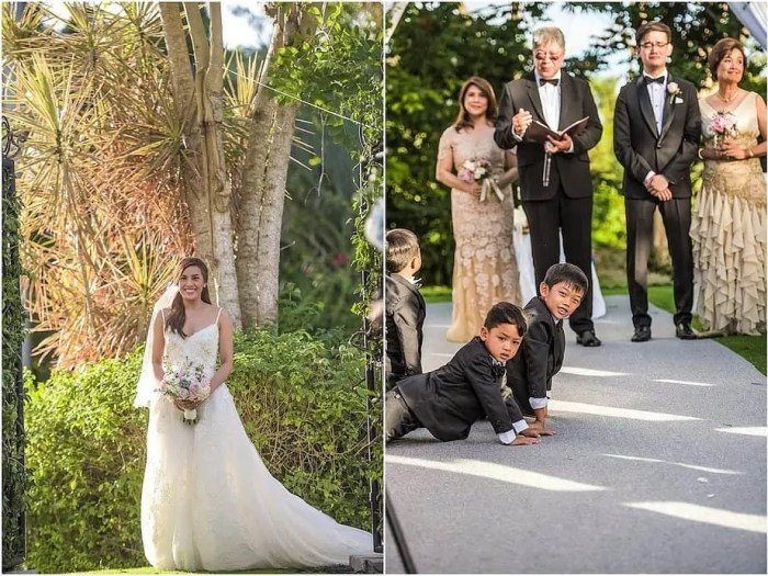 Nikki Gil and BJ Albert: Just before they tied the knot.