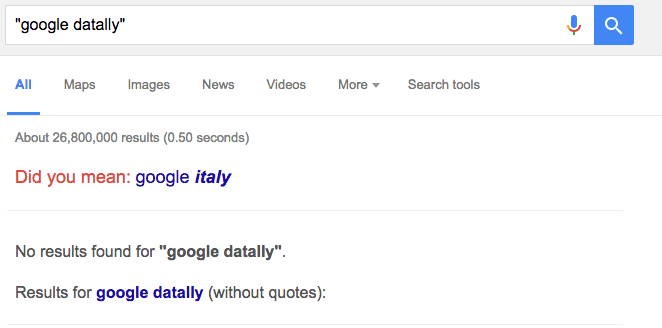 Google Datally Trademark Application