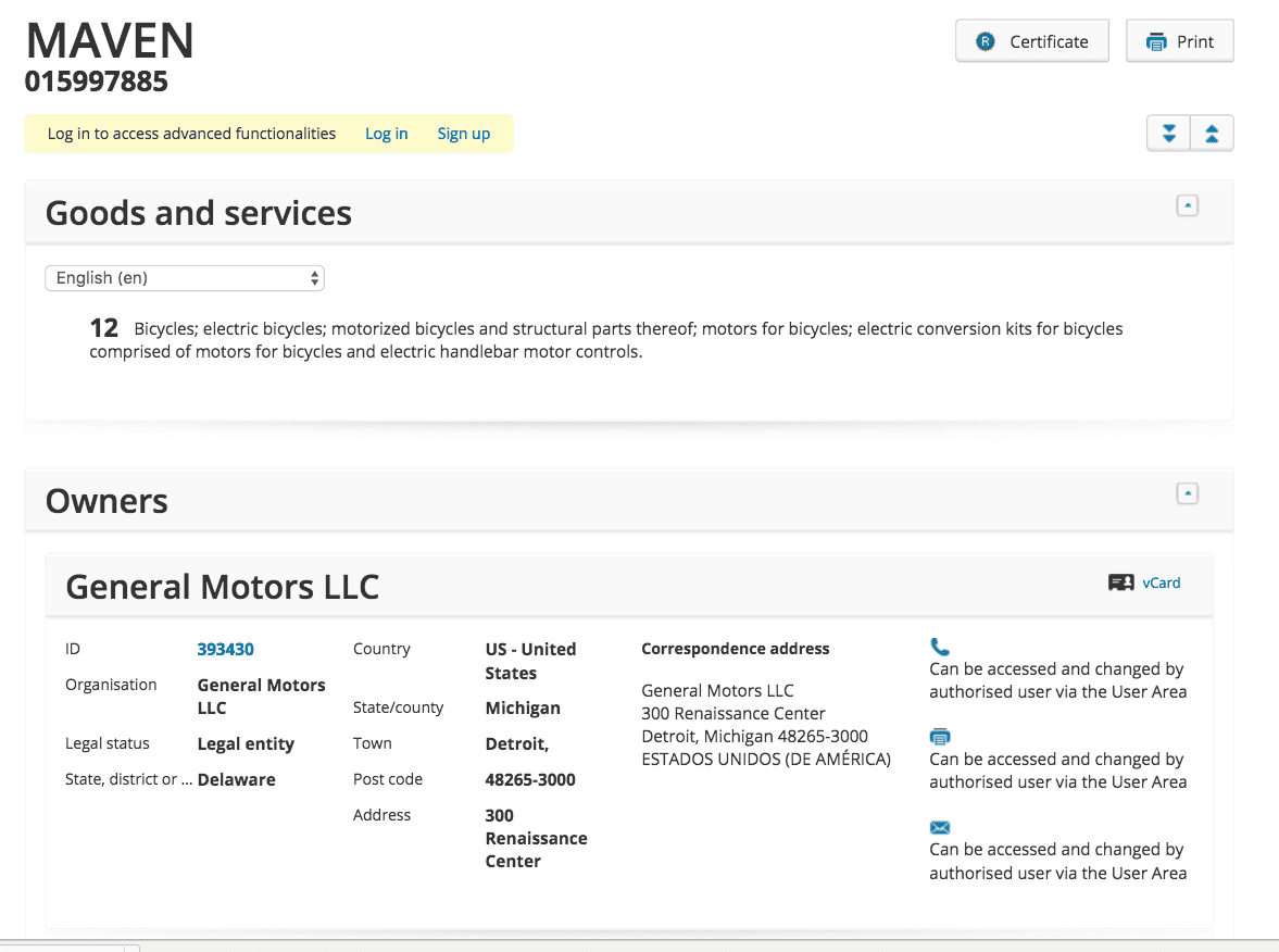 General Motors Have Applied For A Trademark For Maven To Convert Your Bike Into An Electric Bike Gm Gm Maven