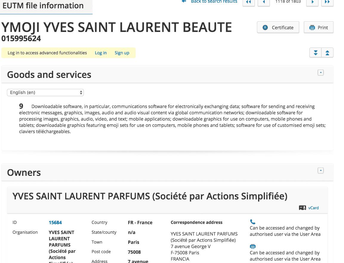 Oh Ysl Not You Too Yves Saint Lauren Jump On The Emoji Band Wagon With Ymoji Trademark Application Ysl Ymoji