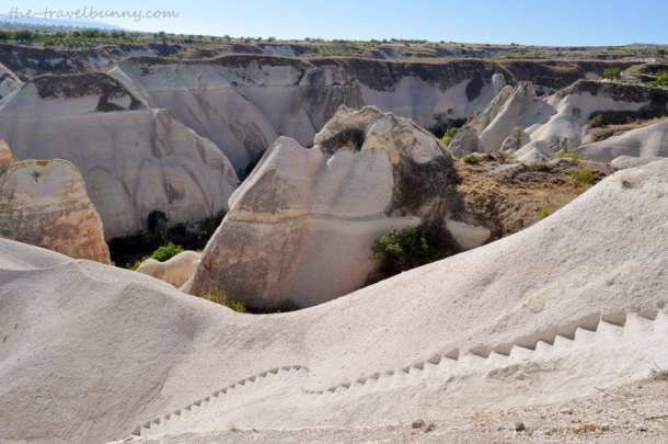Steps down to King's Valley, Goreme