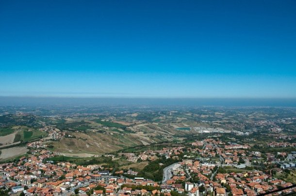 The view from San Marino  to Rimini's Coast