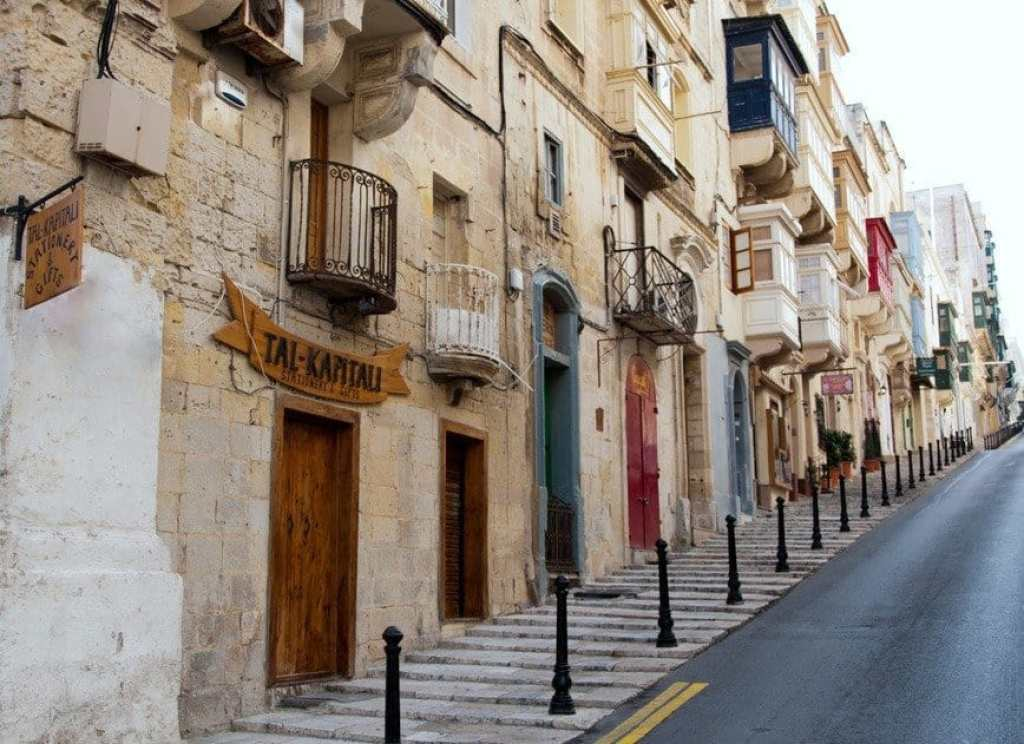 Valletta Street with balconies
