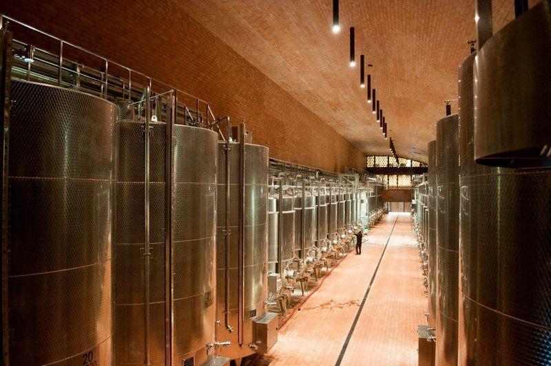 Fermentation Tanks at Cantina Antinori
