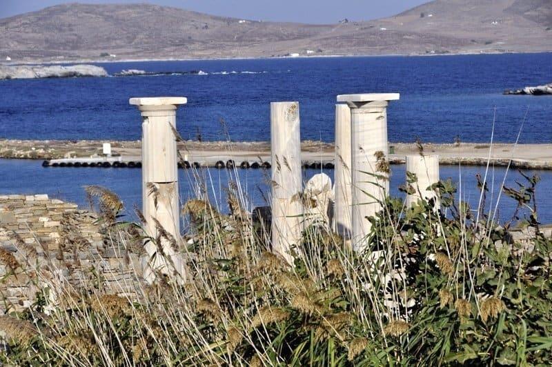 Pillars at Delos, Greece