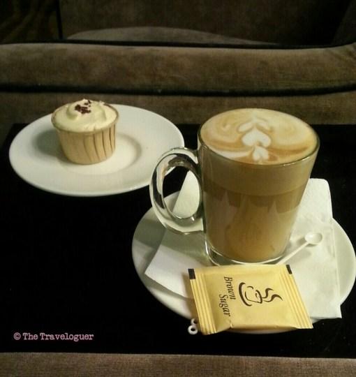 cake and coffee Kuala Lumpur airport