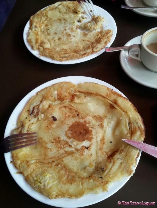 banana pancakes in Kathmandu, Food in Nepal