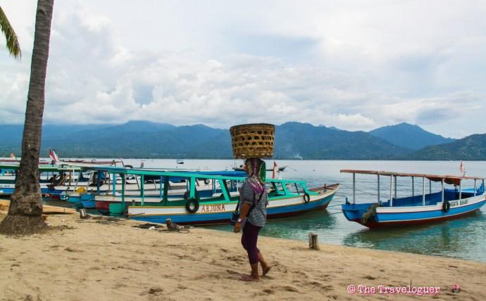 Gili Air, near Lombok, Indonesia. One of three beautiful Gili Islands of paradise.