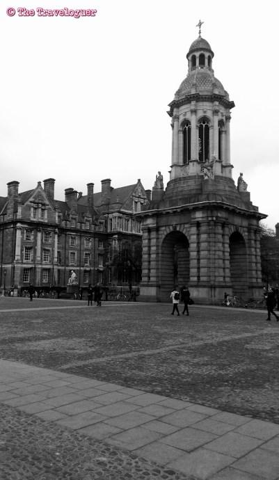 Trinity College, Dublin, Ireland monochrome monday thetraveloguer.com