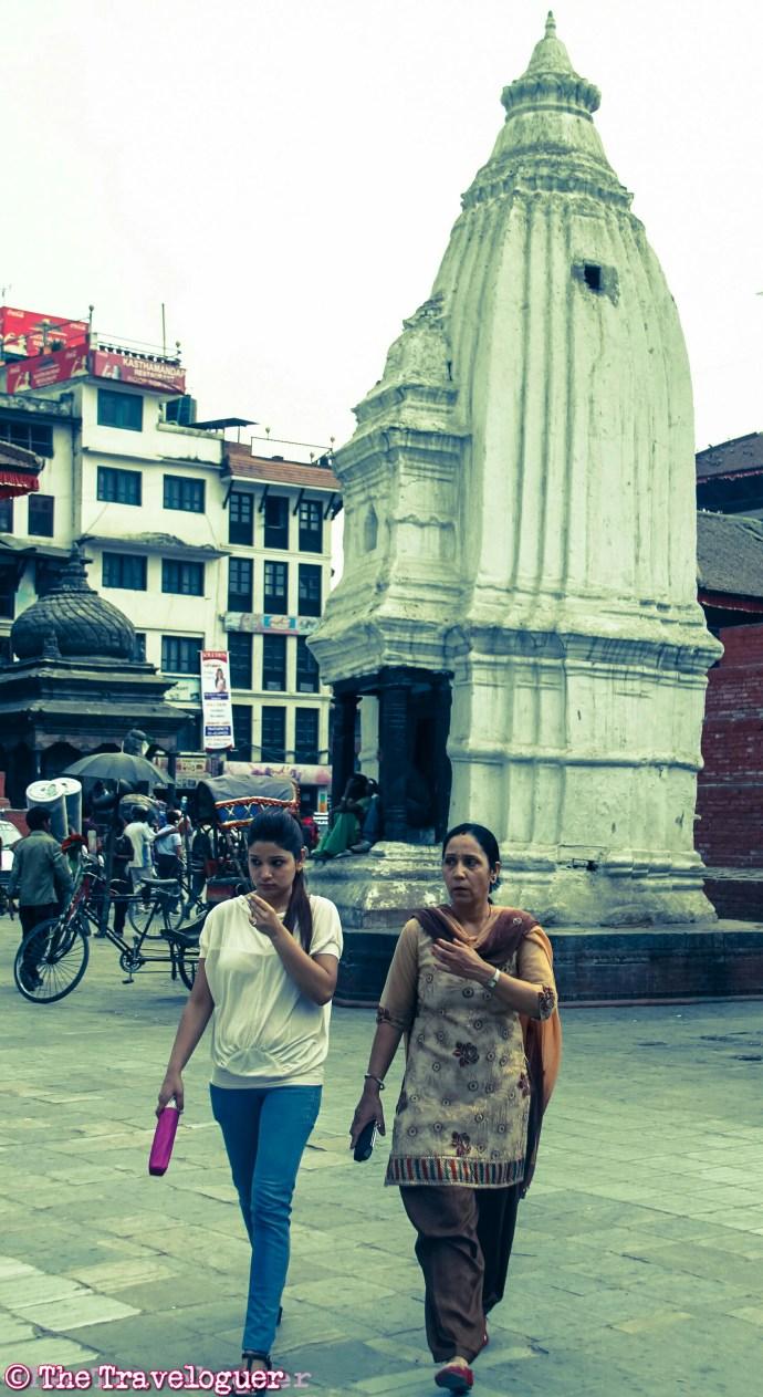 Kathmandu street photography Women Walking in Durbar Square, Kathmandu, Nepal - Kathmandu Street Photography - thetraveloguer.com