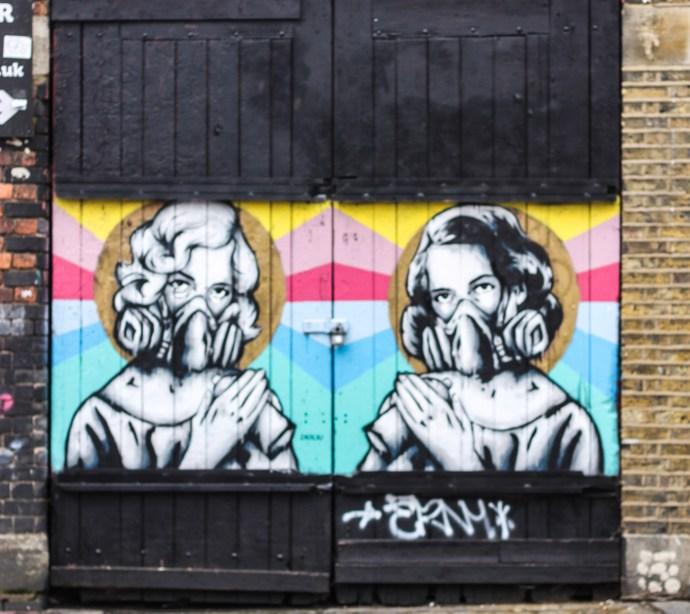 Shoreditch Street Art in London. Brick Lane thetraveloguer.com