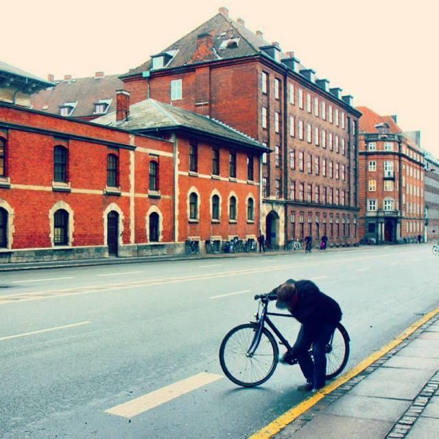 Winter morning in Copenhagen Denmark