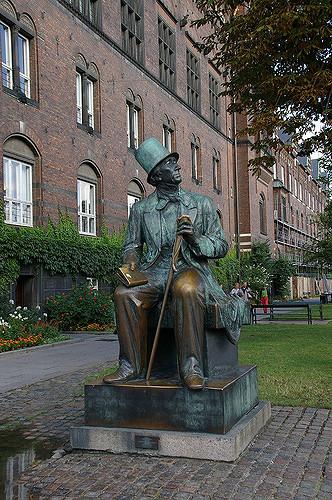 Hans Christian Andersen statue - Copenhagen fairytale