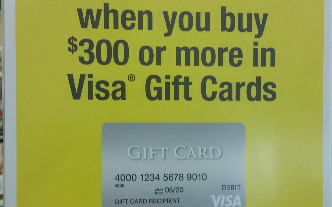 Instant Discount Off Purchase of Visa Gift Cards at OfficeMax/Office Depot This Week!