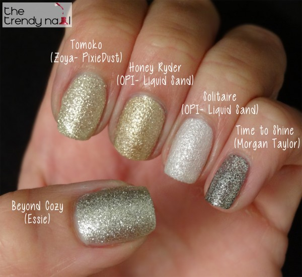 Comparing Neutrals (Textured Nail Lacquers)