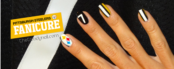Showing some Pittsburgh Steelers Spirit .. On My Nails!