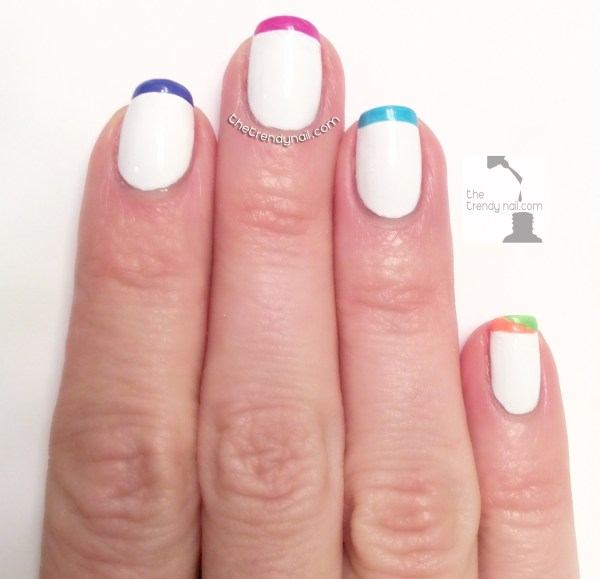 Neon French Tip Nail Designs: MANI MONDAY: PAINTING NEON FRENCH TIPS WITH ESSIE