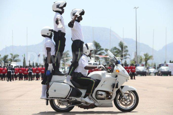 Nigerian Police on Parade