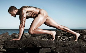 San Francisco 49ers quarterback Colin Kaepernick is featured in ESPN The Magazine's Body Issue. Kaepernick, along with 20 other athletes from various sports, were pictured in nude poses sporting athletic stances.