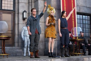 "Josh Hutcherson, Elizabeth Banks and Jennifer Lawrence star in ""Catching Fire,"" the sequel to 2012's ""The Hunger Games.""The highly-anticipated film is the second in a series of four films based on a young adult book series by Suzanne Collins."