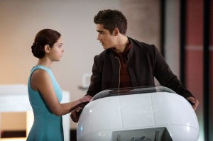 "Photo Courtesy The Weinstein Comapny Fiona (left), the love interest of the main character Jonas (right), is played by Odeya Rush. While the original book, ""The Giver,"" did not include a love interest for Jonas, Fiona plays a crucial role in the film version."