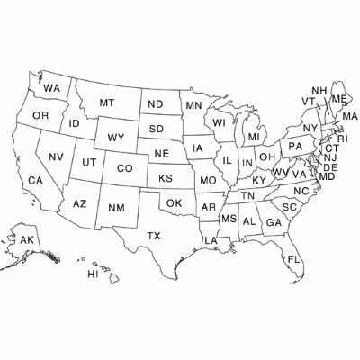 map of states in united states
